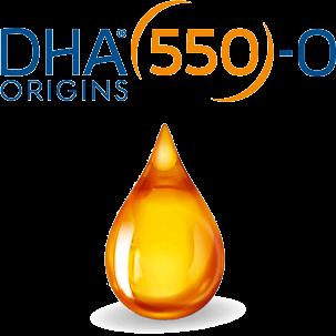 Huile d'omega-3 orange 550 gr DHA ORIGINS